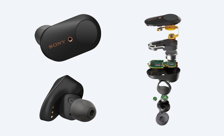 photo détaillée de casque true wireless sony wf 1000xm3